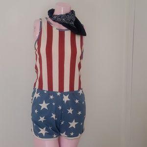 Junk Food-- Vintage American flag jumper